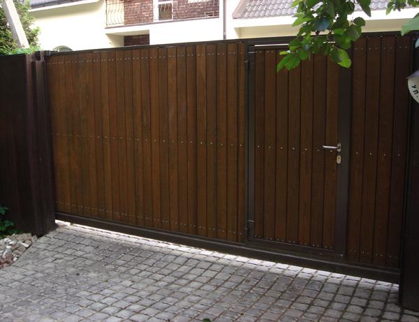 Откатные ворота для дачи в Хотьково